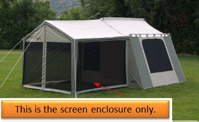 buy online a2150 4535e Kodiak Canvas 0631 Tent Screen Enclosure for 6133 Deluxe Awning Tent