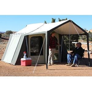 Kodiak Canvas Tent 6133 6 Person 9 x 12 ft. with Deluxe Awning Canopy