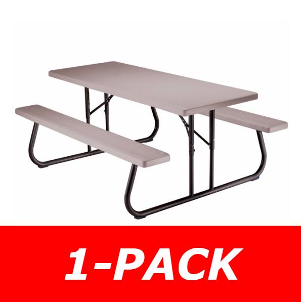 Lifetime 6 Folding Picnic Table.Lifetime Fold Up Flat 6ft Picnic Table